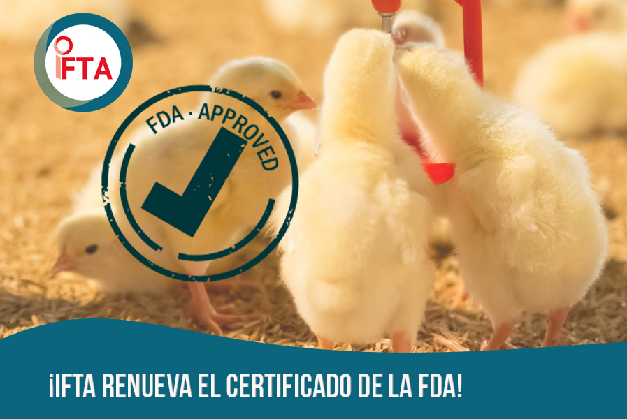¡IFTA renueva el certificado de la FDA!